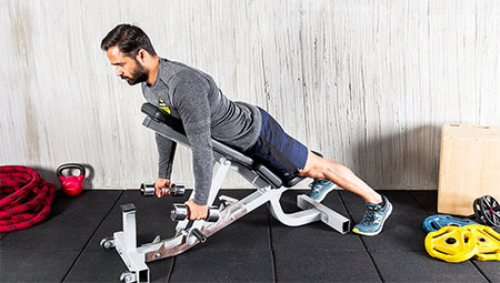 PRONE DUMBBELL ROW